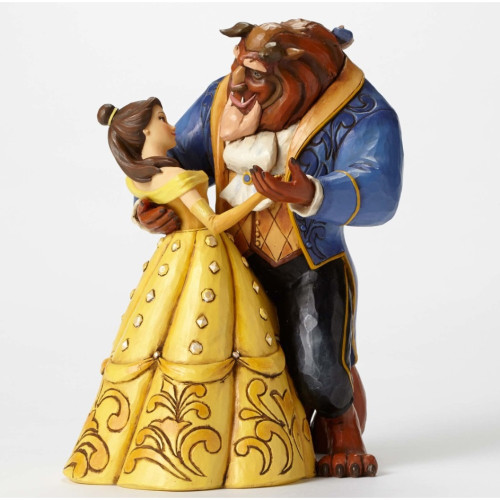 "Jim Shore- Disney Traditions ""Moonlight Waltz"" 25th Anniversary Beauty and the Beast Figurine 4049619"