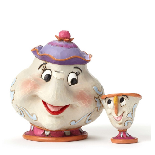 "Jim Shore- Disney Traditions ""A Mother's Love"" Mrs. Potts and Chip Figurine 4049622"