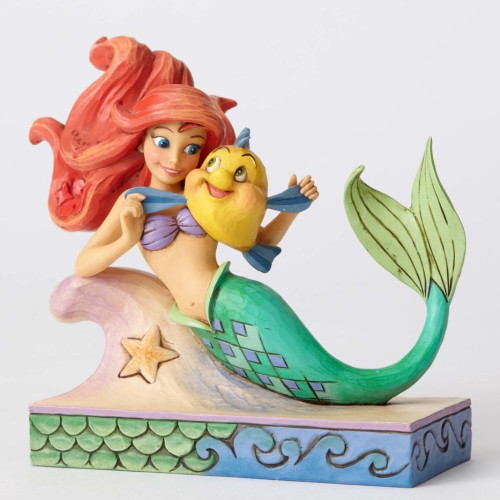 "Jim Shore- Disney Traditions ""Fun and Friends"" Ariel and Flounder Figurine 4054274"