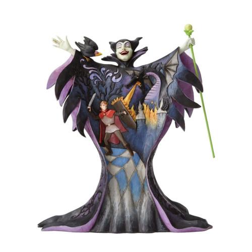 "Jim Shore- Disney Traditions ""Malevolent Madness"" Maleficent with Scene Figurine 4055439"