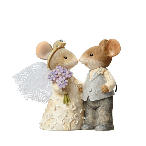 "Heart of Christmas - ""Wee Wedding Wishes"" Wedding Mice Figurine 4055901"