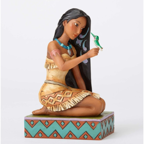 "Jim Shore- Disney Traditions ""Free and Fierce"" Pocahontas and Flit Figurine 4056128"