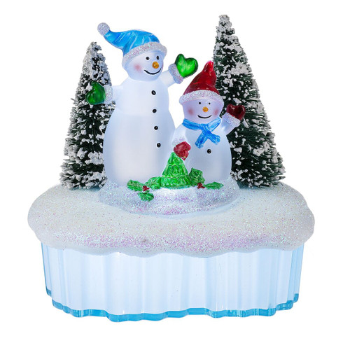 Snowman on Ice Night Light