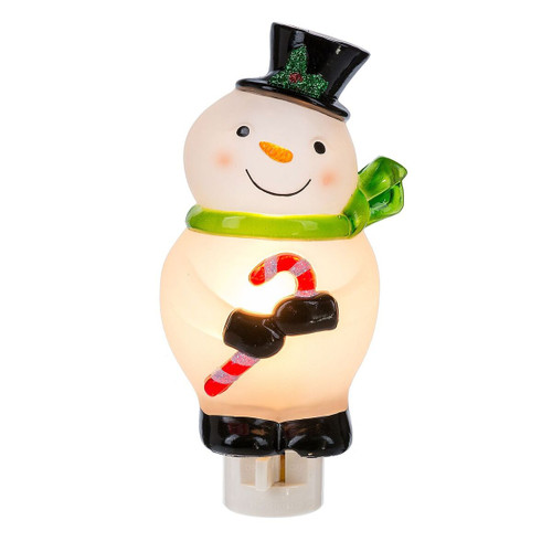 Snowman With Candy Cane Night Light 18