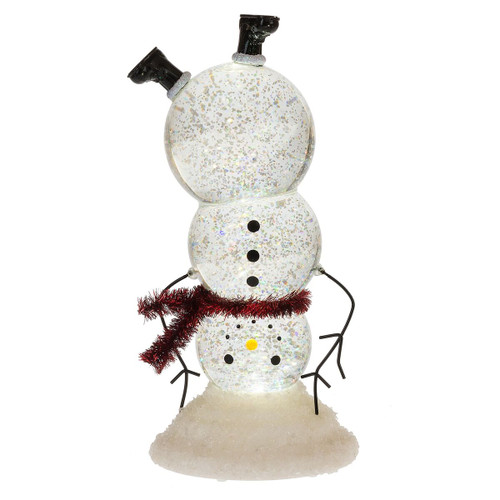 Upside Down Snowman LED Shimmer B/O 18