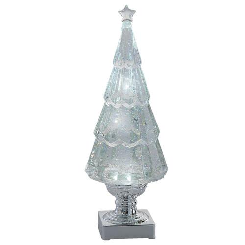 Silver Tree LED Shimmer B/O 18