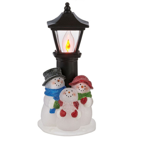 Snowman Family with Street Lamp Night Light 18