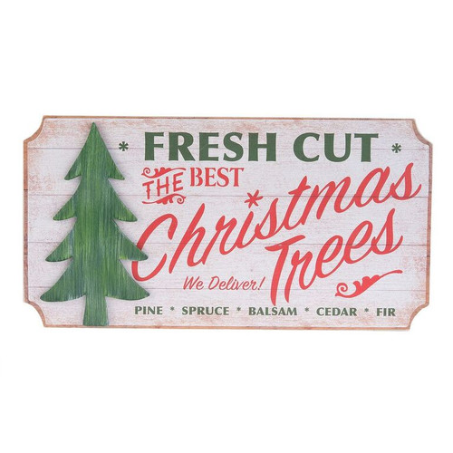 Fresh Cut Trees Wood Sign
