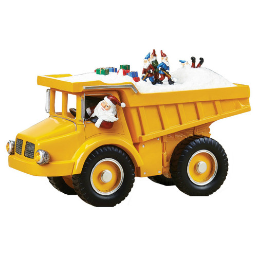 LED Dump Truck With Santa and Elves