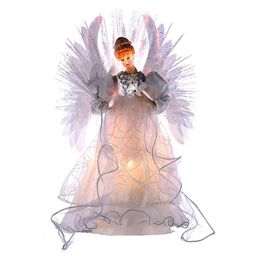 Fiber Optic Multi Colored Angel Tree Topper