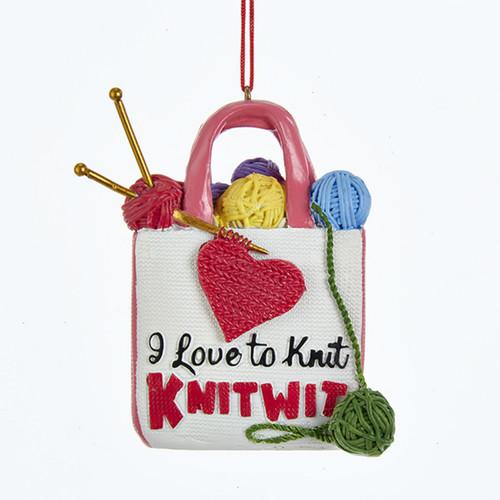 Knitting Bag Ornament