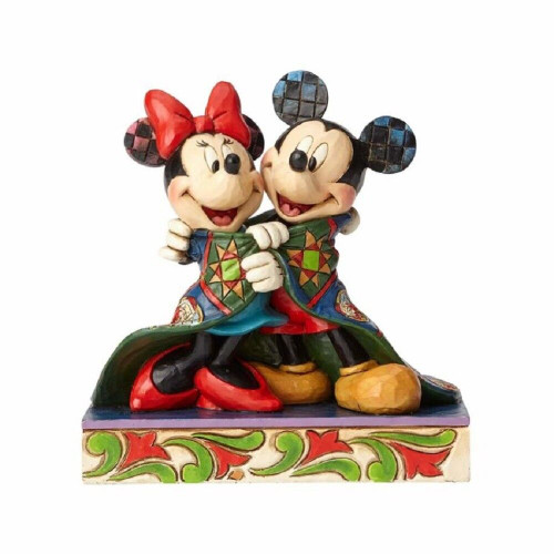 Jim Shore- Disney Traditions Mickey and Minnie Sharing a Quilt