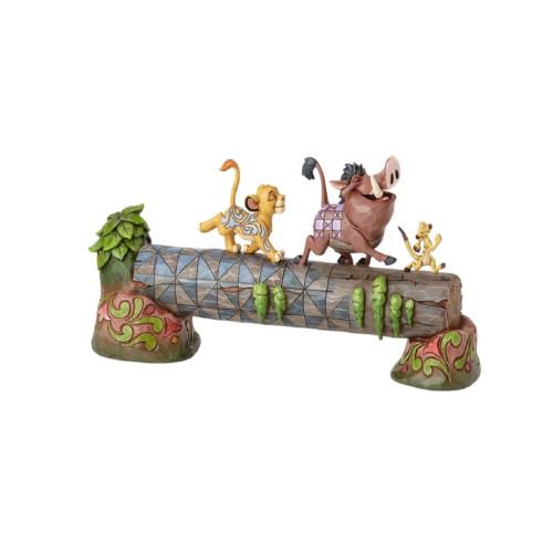 "Jim Shore Disney Traditions-""Carefree Camarderie"" Simba, Timon and Pumba Figurine"