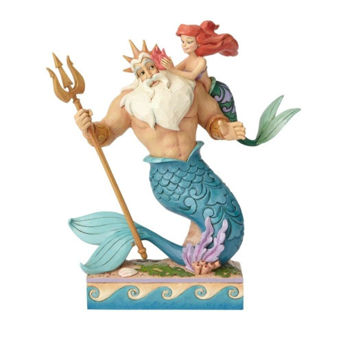 "Jim Shore- Disney Traditions ""Daddy's Little Girl"" Ariel and Triton Figurine 2018"