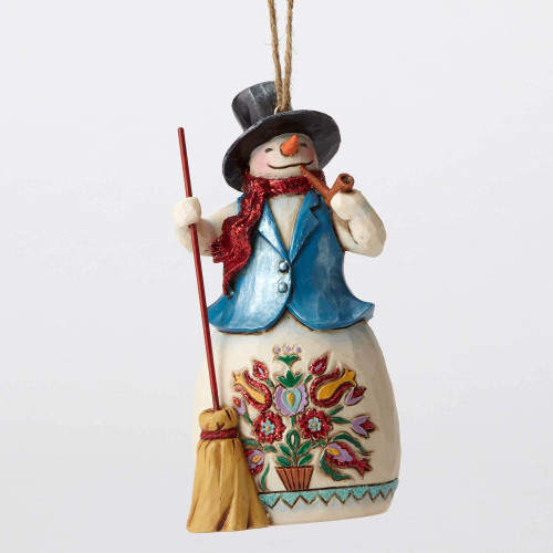 Jim Shore Heartwood Creek-Wonder Snowman Ornament