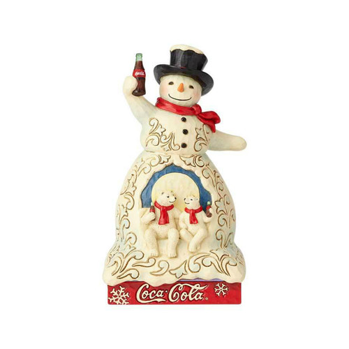 Jim Shore- Heartwood Creek- Snowman with Cola Figurine