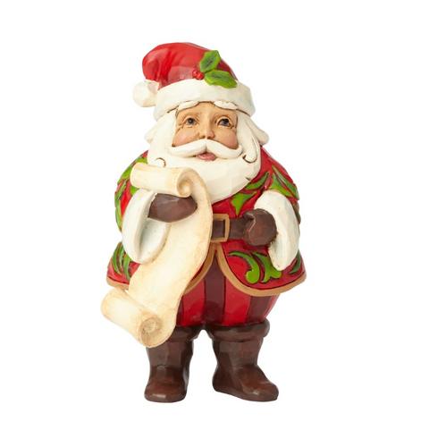 Jim Shore -Heartwood Creek - Santa Holding List 2018