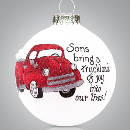 Heart Gifts by Teresa - USA Made - Son Truck Ornament