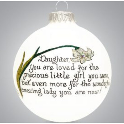 Heart Gifts by Teresa - USA Made - Daughter Lily Ornament