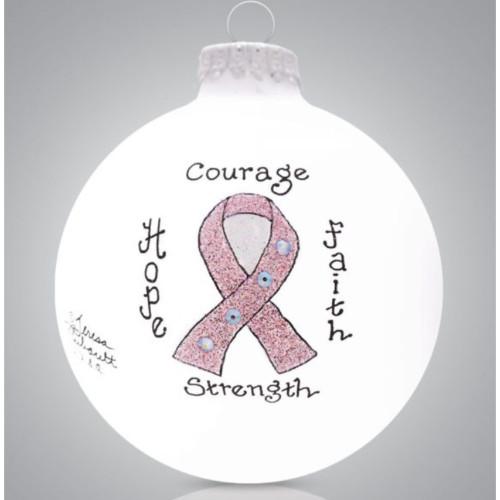 Heart Gifts by Teresa - USA Made - Pink Ribbon Ornament