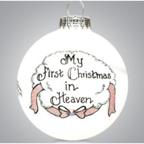 Heart Gifts by Teresa - USA Made - First Christmas in Heaven Girl Ornament