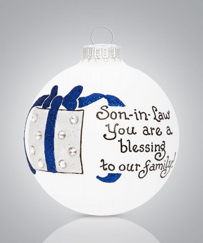 Heart Gifts by Teresa - USA Made -Son-in-Law Ornament
