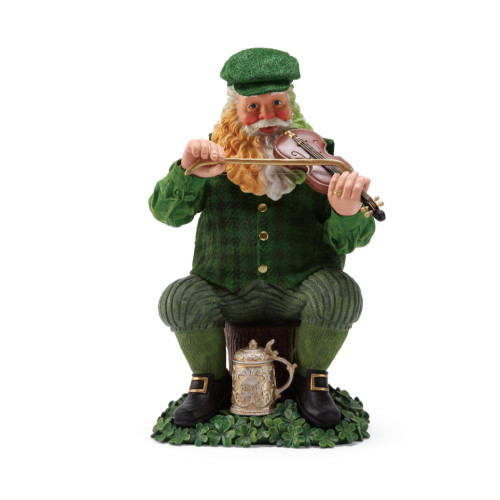 Department 56 - Clothtique Possible Dreams - Fiddle Dee Santa Figurine 2018