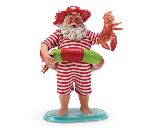 Department 56 - Clothtique Possible Dreams -Lobster Tales Santa Figurine 2018