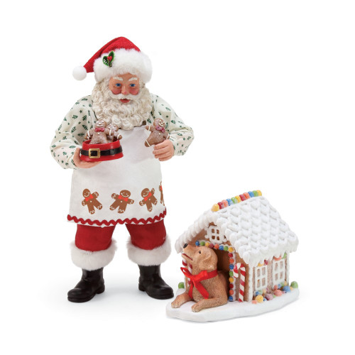 Department 56 - Clothtique Possible Dreams -Everything Nice Santa Figurine 2018 (Set of 2)