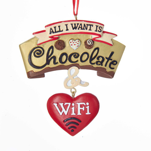 All I Want is Chocolate and Wifi Ornament