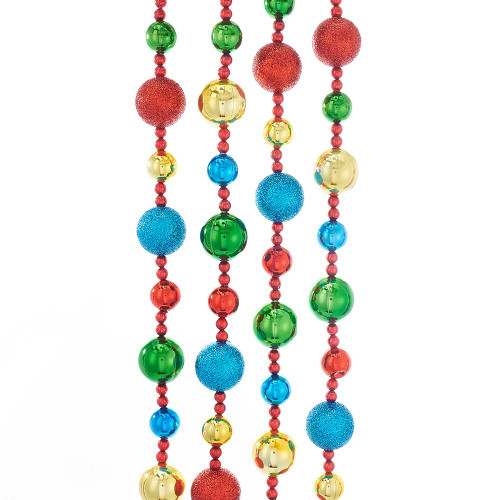 Multi-Colored Beaded 6' Garland