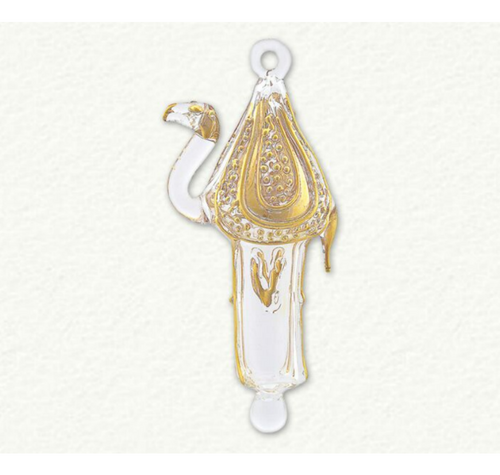 Egyptian Museum Clear and Gold Camel Ornament