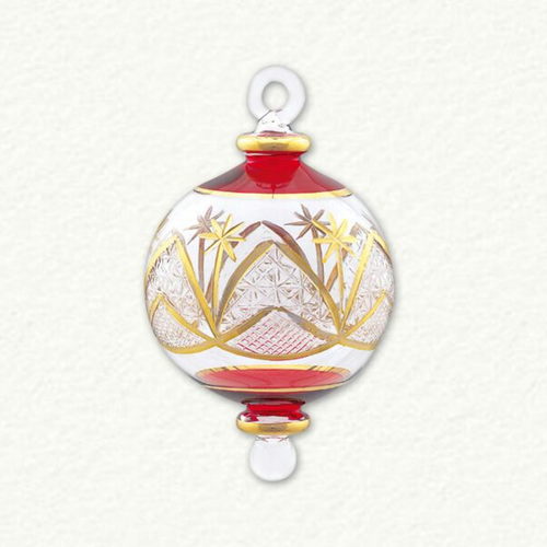 Egyptian Glass Small Red and Gold Ornament