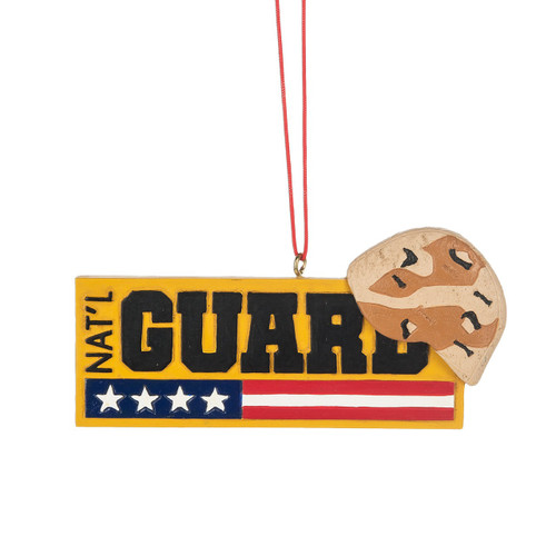 USA National Guard Ornament, with Stars and Stripes and Hat