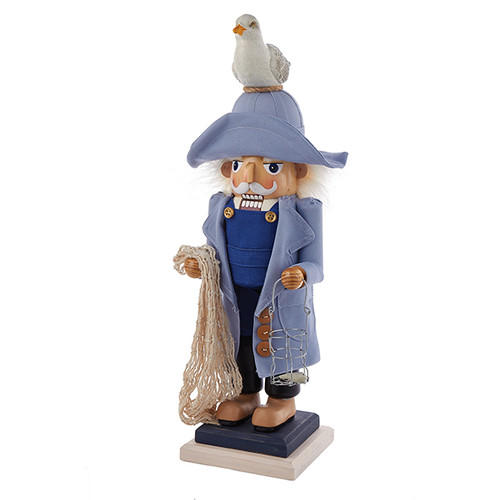 19 Inch Hollywood Nutcracker Fisherman with Seagull
