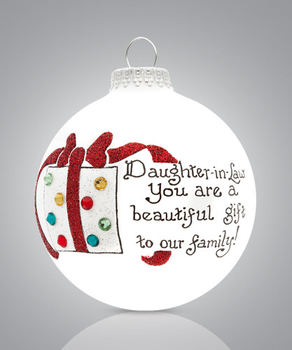 Daughter in Law Ornament- Heart Gifts by Teresa- USA Made