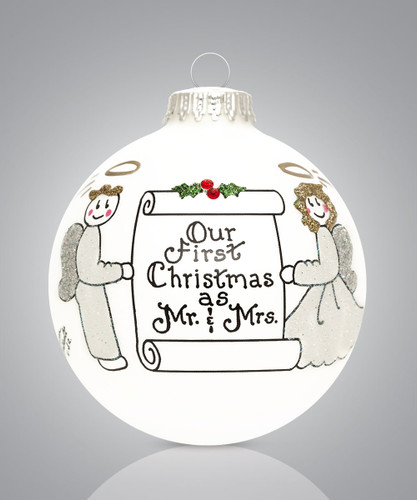 Our First Christmas Ornament- Heart Gifts by Teresa- USA Made