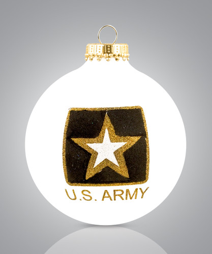 US Army Ornament- Heart Gifts by Teresa- USA Made