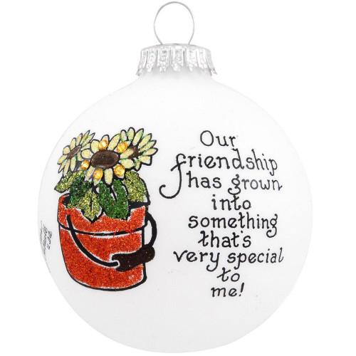 Friendship Flower Ornament- Heart Gifts by Teresa- USA Made