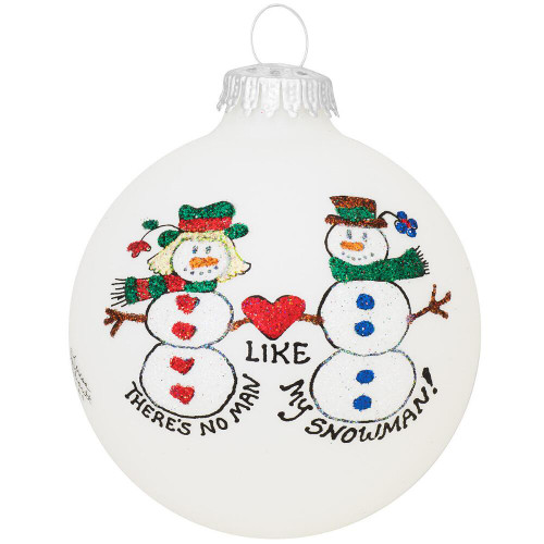 Snowman Lovers Ornament- Heart Gifts by Teresa- USA Made