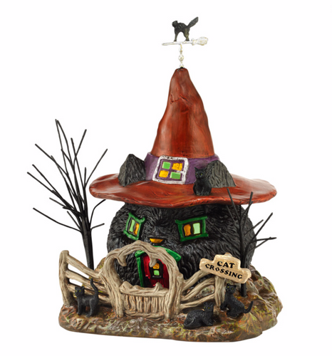 Department 56 - Halloween Village- Black Cat Shack