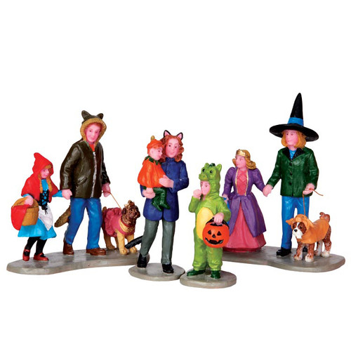 LEMAX Halloween-Trick or Treating Set of 4