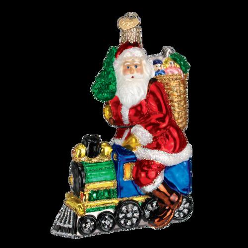 Old World Christmas - Santa on Train Ornament