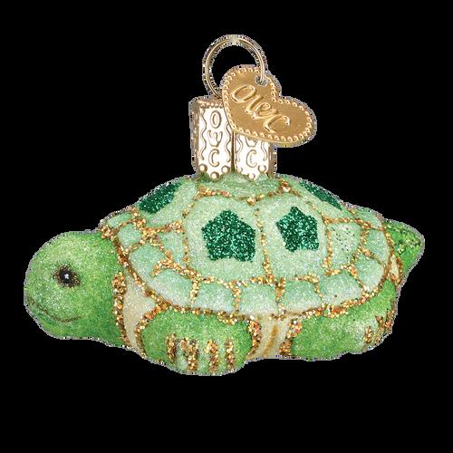 Old World Christmas - Glistening Mini Turtle Ornament