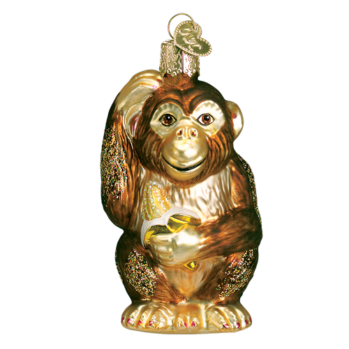 Old World Glass - Chimpanzee Ornament
