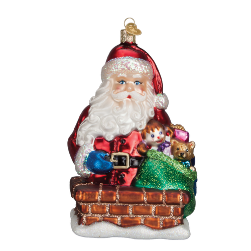 Old World Christmas- Rooftop Visitor Ornament