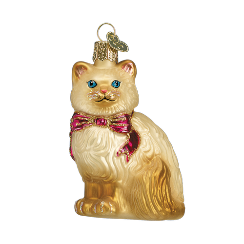Old World Christmass - Tan Himalayan Kitty Ornament