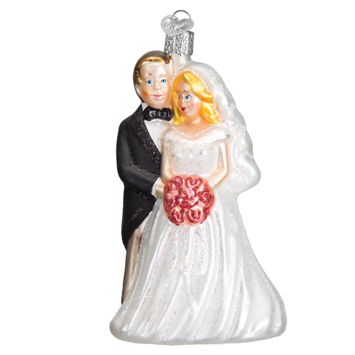 Old World Glass - Bridal Couple Ornament