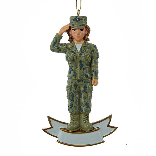 Personalizable -  Female U.S. Army Ornament