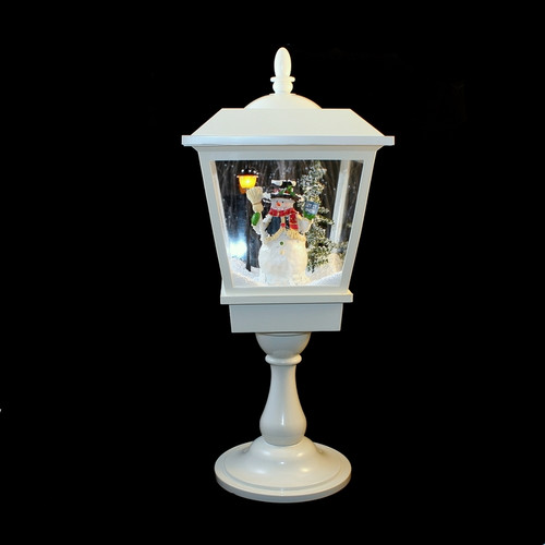 24 Musical Lighted Caroler Family Christmas Table Top: 25 Inch High Northlight Animated Musical Snow Lamp Post